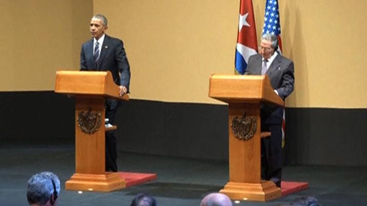 Castro solicita devolución de Guantánamo durante visita histórica de Obama