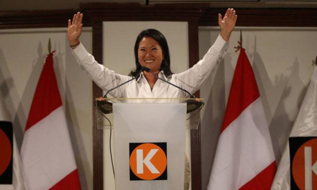 Keiko Fujimori muy cerca del Palacio de Gobierno