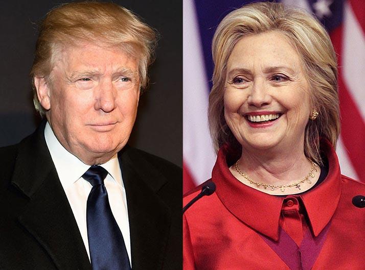 Trump gana primarias de cinco estados; Clinton gana cuatro y Sanders gana una