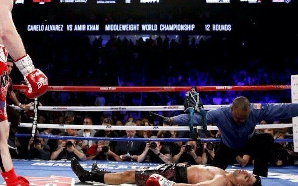 Canelo noquea a Khan de un demoledor derechazo en el sexto asalto