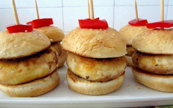 Receta de Mini hamburguesas de champiñones