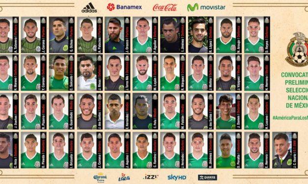 La lista oficial del TRI de los convocados a la Copa América Centenario