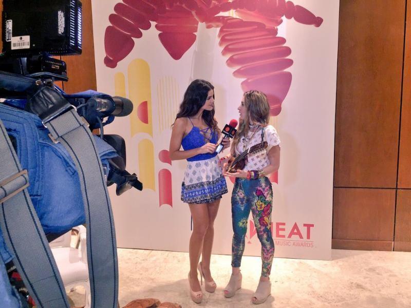 Mirella Cesa formó parte de la segunda edición de los premios Heat Latin Music Awards