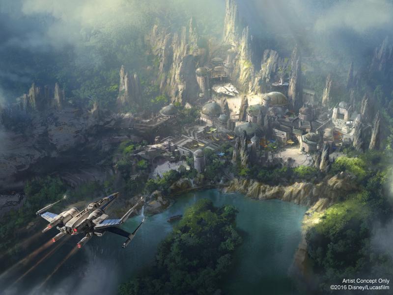 Un nuevo vistazo al área temática de Star Wars del Disneyland Park