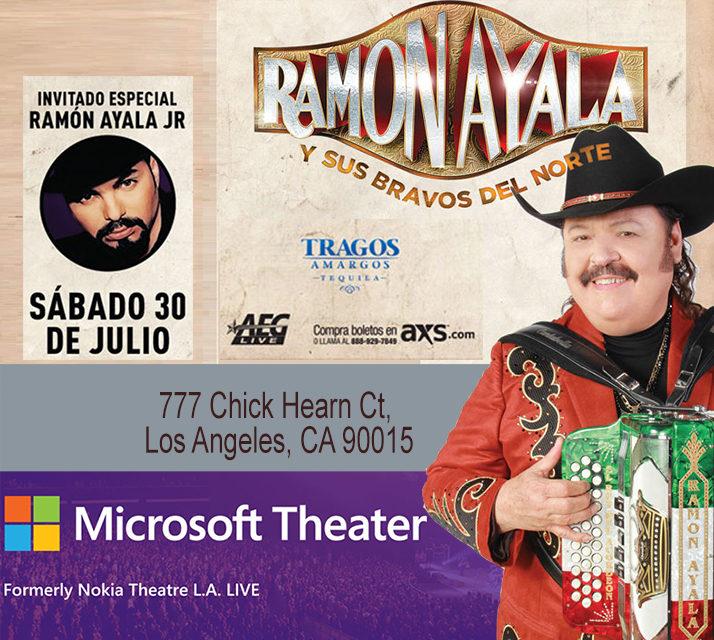 """La Gira de Ramón Ayala y sus Bravos del Norte, Visita el  """"Microsoft Theater"""""""
