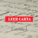 Carta al Editor de Catalina I.