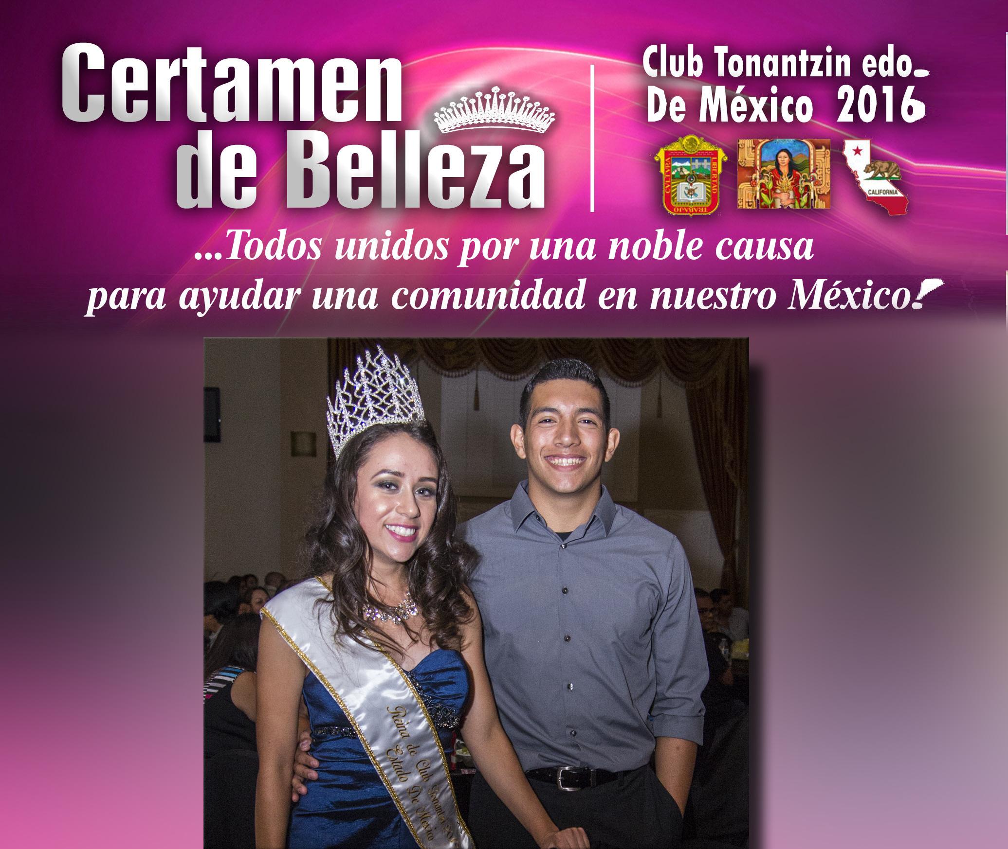 Culminó Con Gran Exito El Certamen De Belleza Edo De México, Club Tonantzin