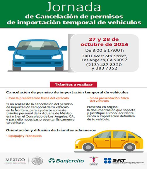 Olvidaste Cancelar tu permiso temporal de importación Vehicular?
