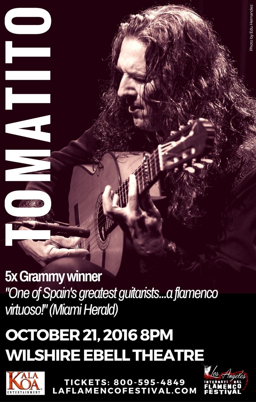 Este octubre 21 Tomatito trae toda la magia de la guitarra flamenca al Teatro Wilshire Ebell