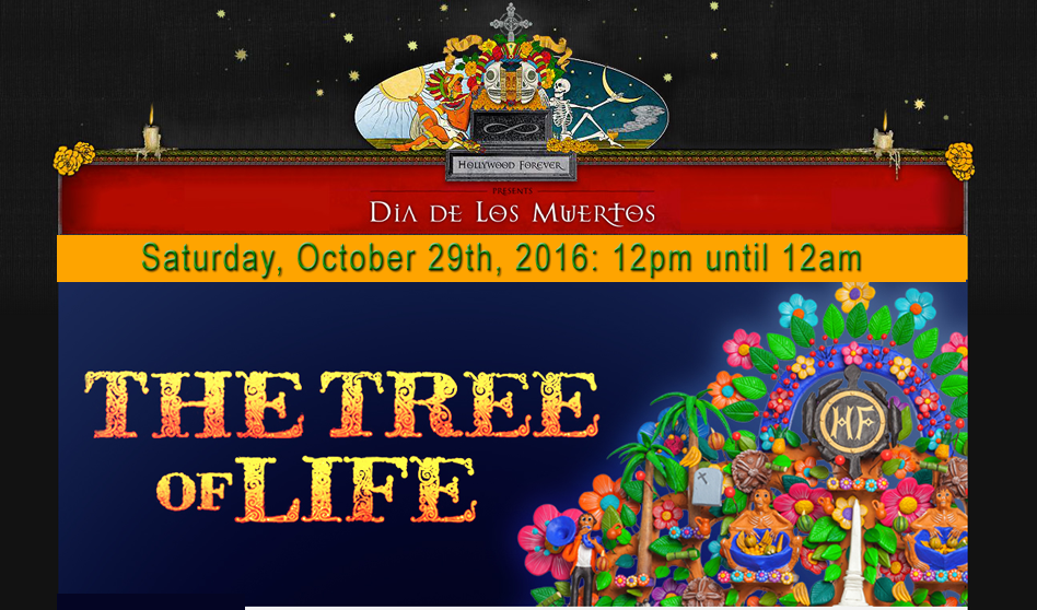 THE TREE OF LIFE, SE PRESENTA EN HOLLYWOOD FOREVER OCT-29