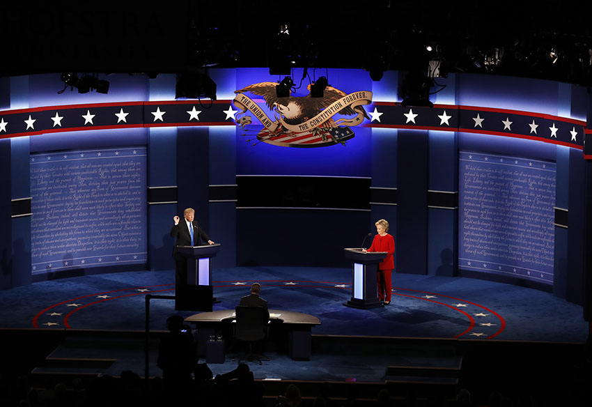 Clinton y Trump, el primer debate