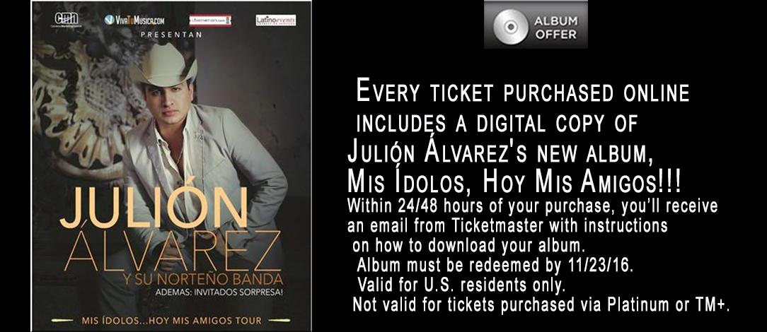 Julión Álvarez y su Norteño Banda, Súper concierto en el Honda Center de Anaheim Nov. 13