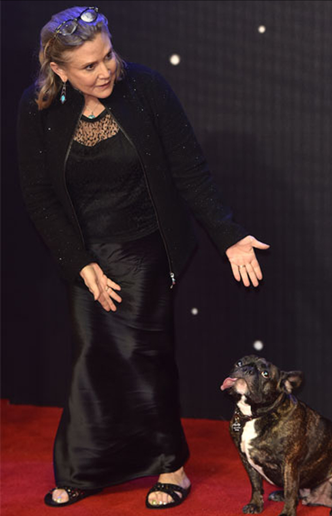 Deceso de Carrie Fisher a los 60 años de edad.