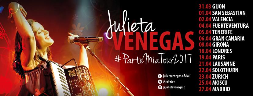 Julieta Venegas Parte mía tour 2017
