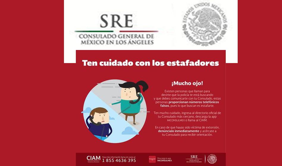¡Cuidado! Estafadores se hacen pasar por personal del Consulado de México!