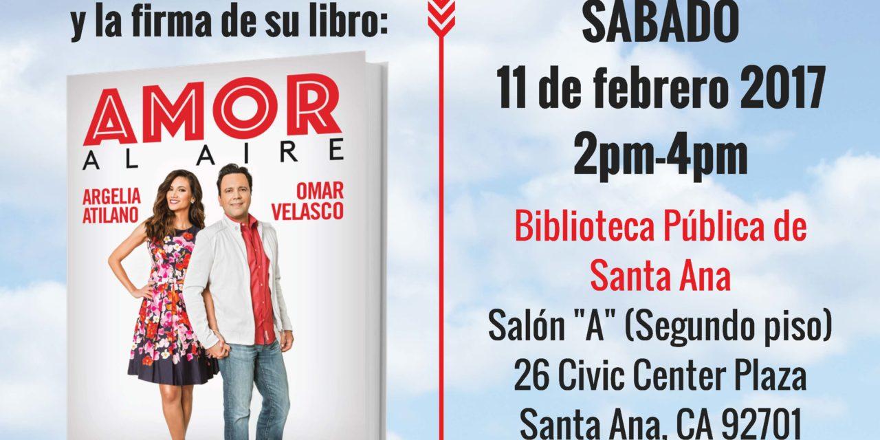 La Biblioteca Pública de Santa Ana – Le da la bienvenida a los Radio Locutores:   Omar y Argelia