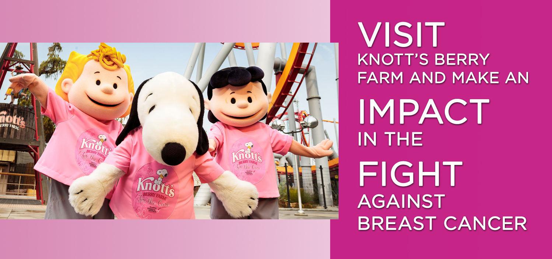 La diversión es color rosa con Knott's Berry Farm & Susan G. Komen