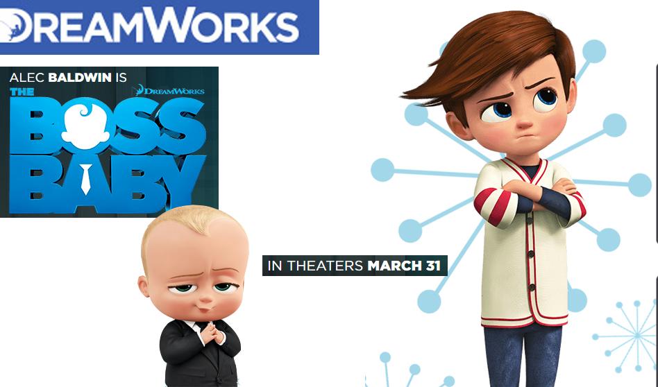 THE BOSS BABY en 3D animación  llega a la pantalla el 31 de marzo,
