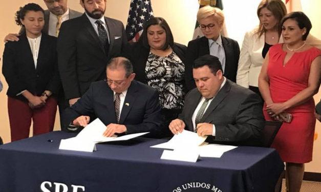 Firma de Memorándum de entendimiento Consulado de México y OCHBA