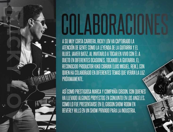 Guitarra al hombro Ricky Lov se propone conquistar el mundo del Pop Moderno.