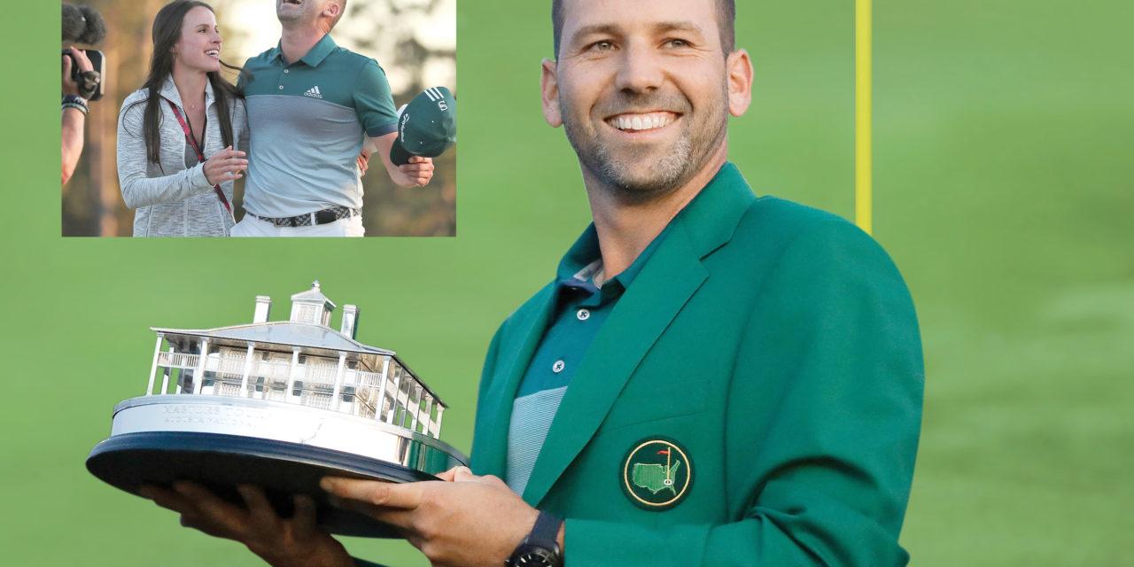 El golfista español puso fin a su larga espera por la chaqueta verde, el trofeo del Masters de Augusta, Georgia, uno de los torneos de golf masculino más importantes