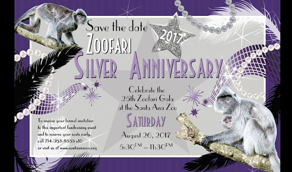 Zoofari 2017 en su aniversario de plata te invita al  zoológico de Santa Ana