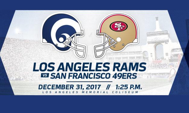 LOS ANGELES RAMS enfrentaran a los 49's de  SAN FRANCISCO