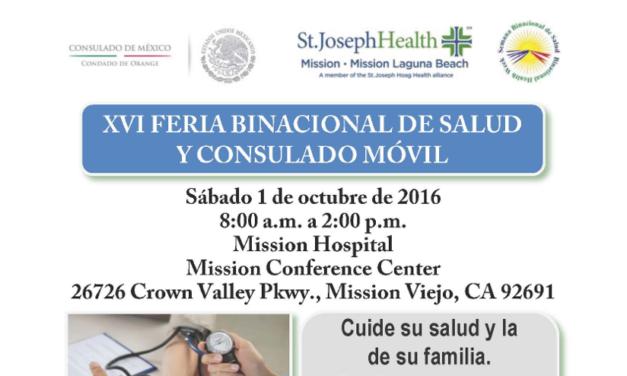El 1 de Octubre se realizará la XVI Feria Binacional de Salud y Consulado Móvil