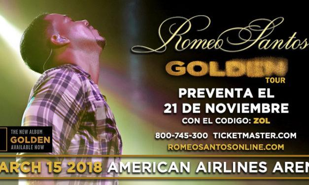 Romeo Santos, El Rey de la Bachata, anuncia los detalles de «Golden Tour» su gira para el 2018