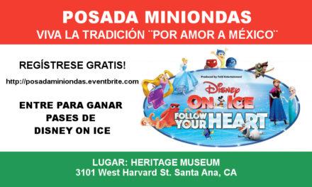 Posada Miniondas, Regístrate GRATIS y participa por pases para Disney One!