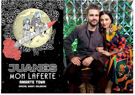 Juanes, la super estrella de la música latina a nivel global, anuncia la gira «Amarte Tour» que recorrerá Norteamérica en el 2018 junto a Mon Laferte, la protagonista de la Escena Latina Alternativ
