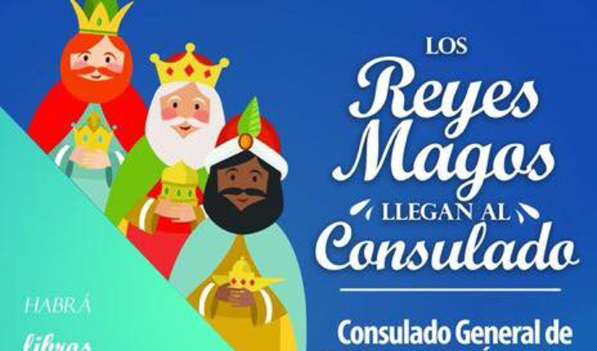 Los Reyes Magos llegan al Consulado de México
