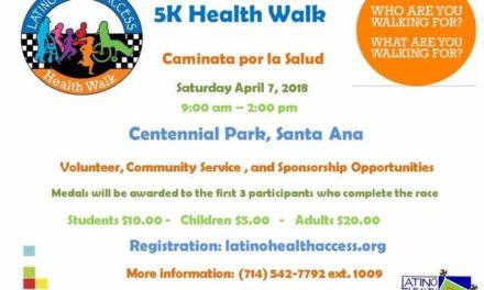 Caminata por la Salud en Santa Ana California