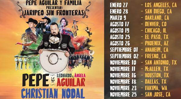 """La gira de Pepe Aguilar """"Jaripeo Sin Fronteras"""" añade nuevos shows"""