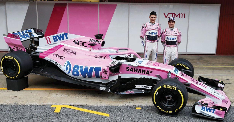 'Checo' Pérez conoce el nuevo Force India para la temporada 2018
