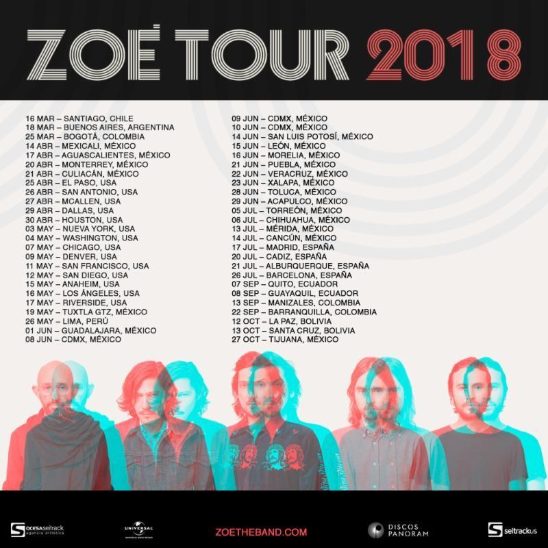 Zoé debuta en el #1 Chart Latino Alternativo de iTunes con su single «Temor y temblor» y conquista el festival Estereo Picnic en Colombia