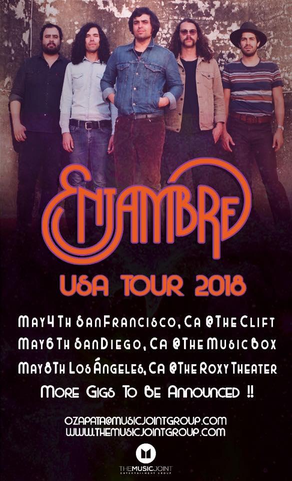 El Tour de Enjambre en Mayo con tres presentaciones en California