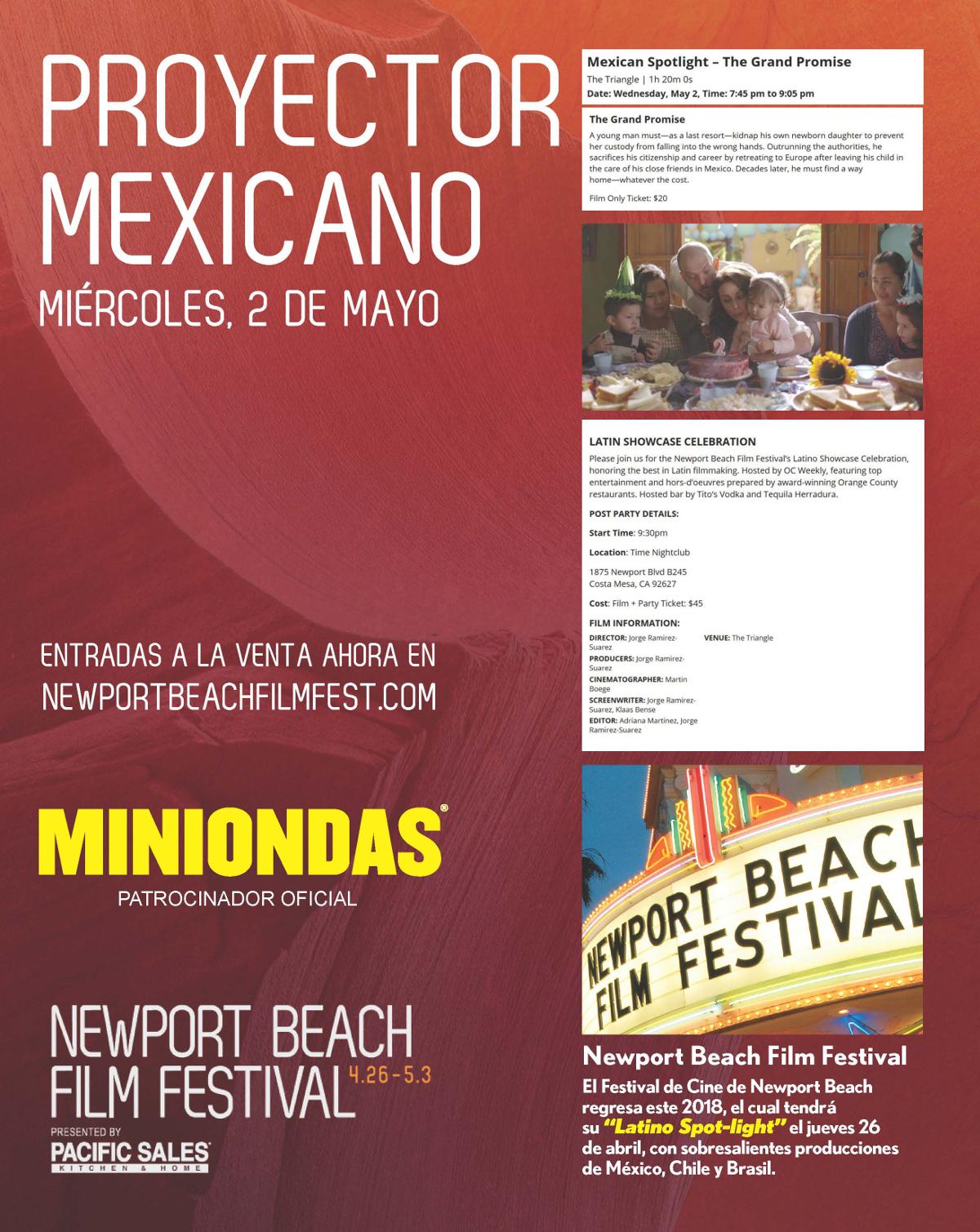 El 2 de Mayo se proyectará la Película de México La Gran Promesa en el 19º Festival de Cine de Newport Beach
