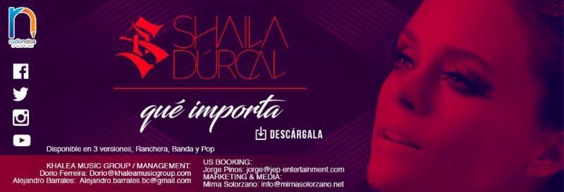 Shaila Dúrcal inicia su gira por California y lanza su nuevo tema «Que Importa» el 1 de mayo