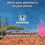"""Honda alienta a los conductores a """"eliminar las distracciones"""" en ocasión del Mes de la concientización sobre la conducción distraída"""