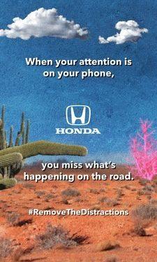 Honda alienta a los conductores a «eliminar las distracciones» en ocasión del Mes de la concientización sobre la conducción distraída