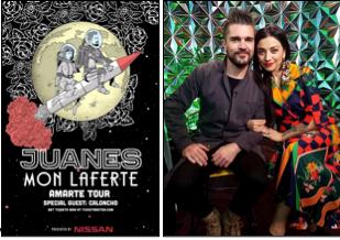El «Amarte Tour» de Juanes inicia su recorrido por Norteamérica este Viernes 20 De Abril junto a Mon Laferte