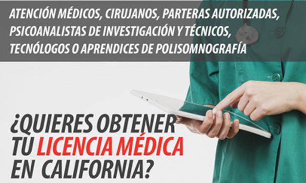 Foro Informativo para obtener la Licencia Médica en California