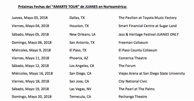 El 'Amarte Tour' de Juanes y Mon Laferte continúa su exitoso paso por Norteamérica