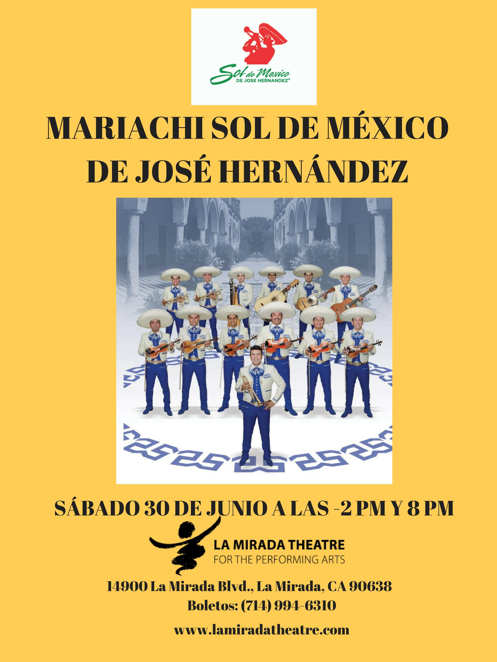El Maestro José Hernández y su Famoso Mariachi Sol de México en Concierto en la Mirada Theatre For The Performing Arts