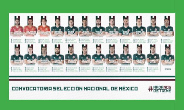Presentan lista de 23 jugadores de México para Rusia 2018