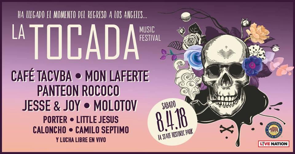 Caloncho en La Tocada Music Festival L.A. State Historic Park 8.4.18