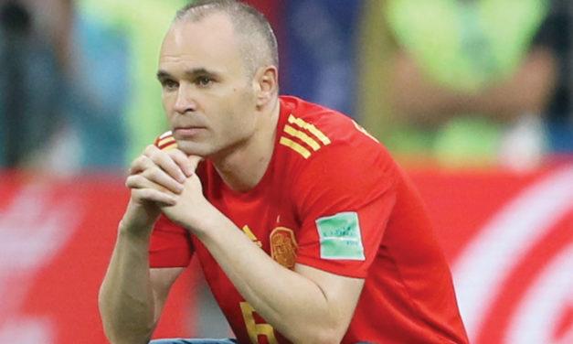 Tiene Iniesta triste despedida de la selección española