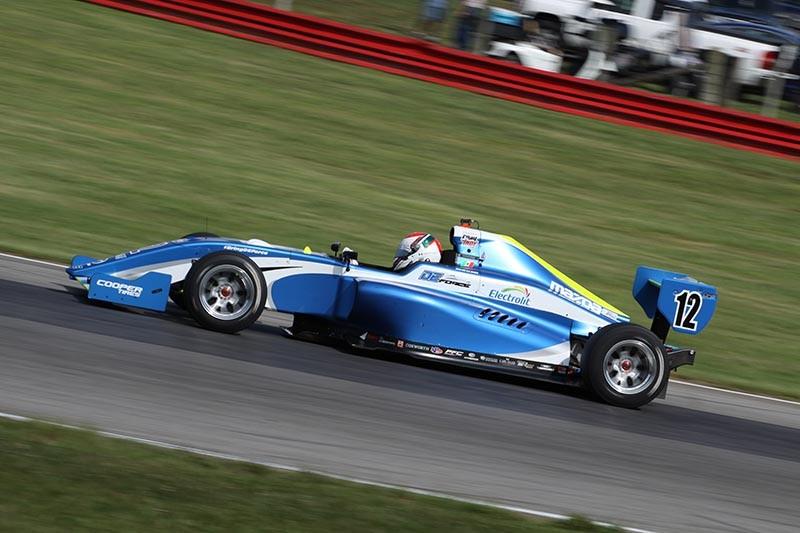 Moisés de la Vara finaliza su primera carrera en la Pro Mazda 2018