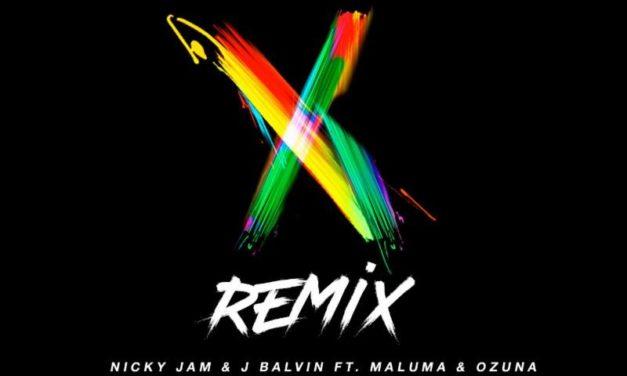 NICKY JAM y J BALVIN nos traen el remix de X en compañía de Ozuna y Maluma
